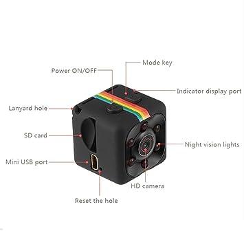 Mini Cámara,niceEshop(TM) HD 1080P Mini Cámara Infrarroja de la Noche de los Deportes de la Cámara de Vídeo de la Detección del Movimiento,Negro: Amazon.es: ...