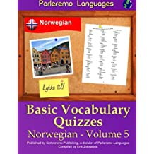 Parleremo Languages Basic Vocabulary Quizzes Norwegian - Volume 5
