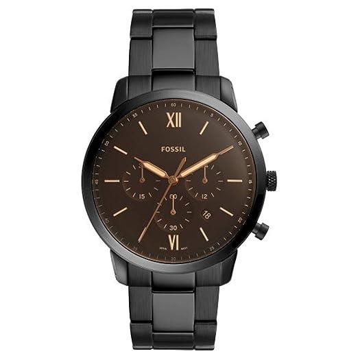 da2a74b2b8ec Fossil Reloj Cronógrafo para Hombre de Cuarzo con Correa en Acero Inoxidable  FS5525  Amazon.es  Relojes