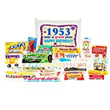 Woodstock Candy 1953 65th Birthday Gift Box - Retro Nostalgic Candy Mix for 65 Year Old Man or Woman Jr.