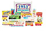 Woodstock Candy 1953 65th Birthday Gift Box - Nostalgic Retro Candy Mix from Childhood for 65 Year Old Man or Woman Jr.
