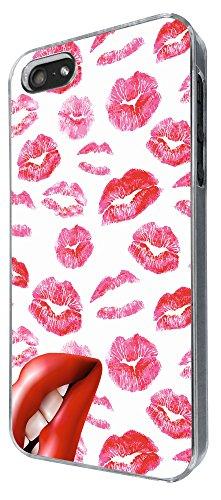880 - Multi Kisses Lips Cool Lipstick Design iphone 4 4S Coque Fashion Trend Case Coque Protection Cover plastique et métal