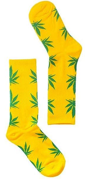 Calcetines cannabis amarillo y verde - Kultur Kush (HUF Style - talla única 35-