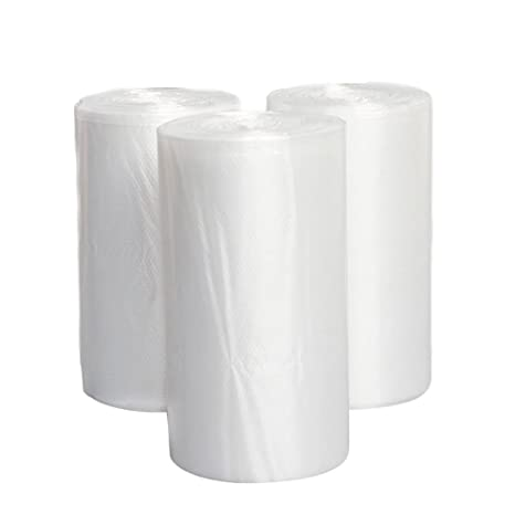 4 Gallon claro bolsas de basura, Jorris pequeñas bolsas de ...