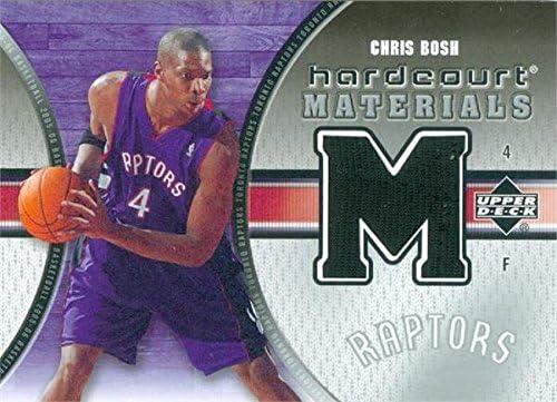 on sale 45dbd f6220 Chris Bosh player worn jersey patch basketball card (Toronto ...