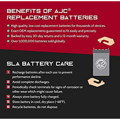 APC BackUPS ES 550 12V 7Ah UPS Battery - This is an AJC Brand Replacement : General Use Batteries : Sports & Outdoors