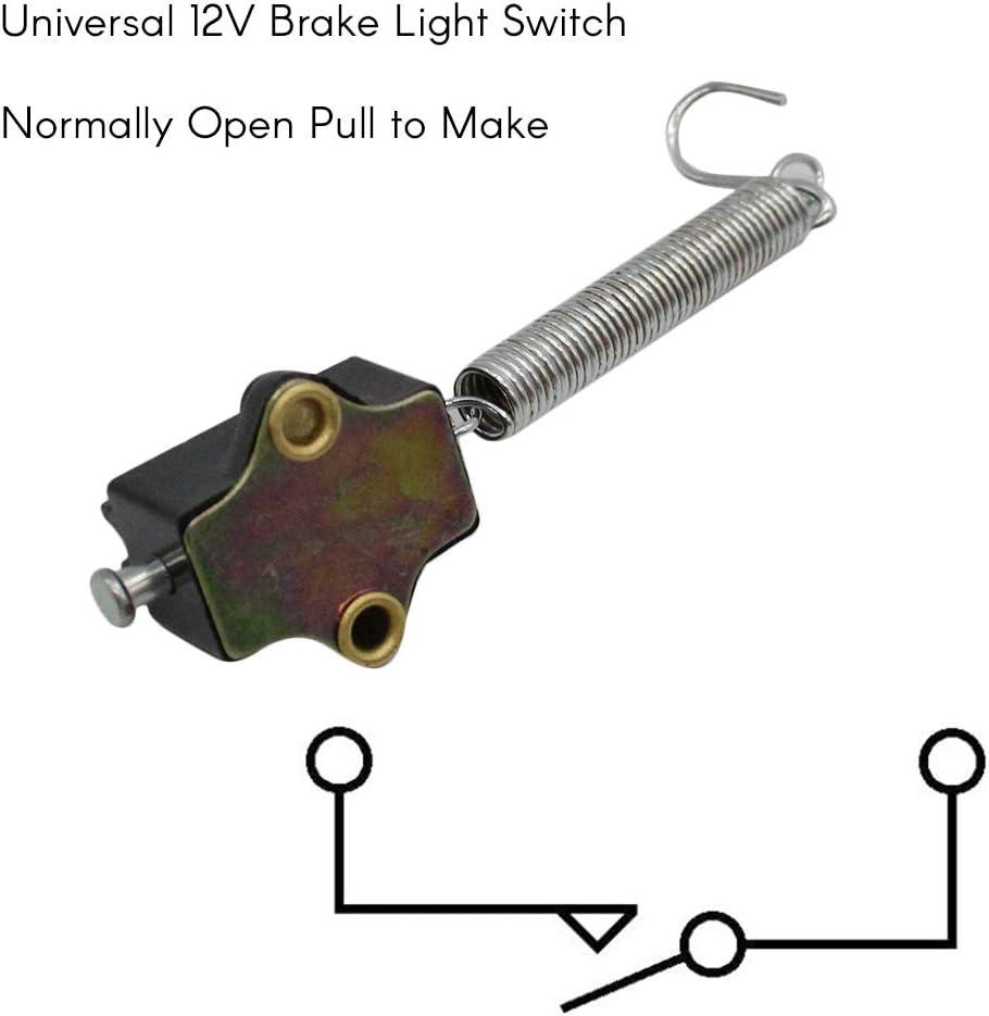Interrupteur de feu stop universel 12V normalement ouvert pour tirer