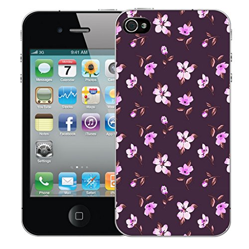 Mobile Case Mate iPhone 5s Silicone Coque couverture case cover Pare-chocs + STYLET - Decorative Floral pattern (SILICON)