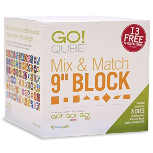 "AccuQuilt GO! Qube Mix & Match 9"" Block by AccuQuilt GO!"