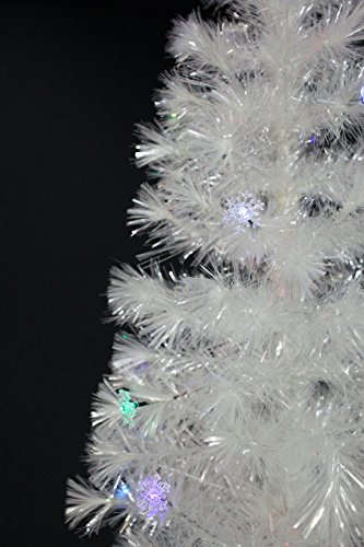6.5 FT PRE-LIT MULTI COLOR LED LIGHTS & FIBER OPTIC WHITE CHRISTMAS TREE WITH STAR TOPPER by XmasBuddy (Image #3)