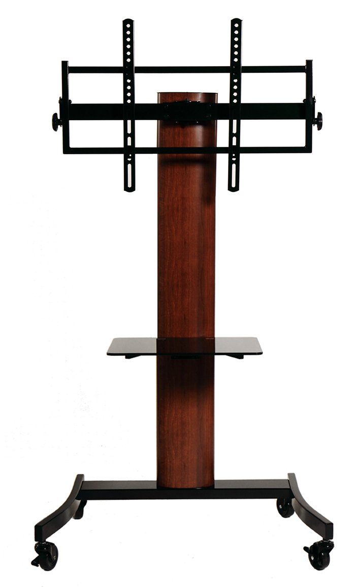 TransDeco TV Stand/Cart Flat Panel Mounting System for up to 75 inch TD593DB, Dark Oak/Black