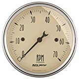 Auto Meter 1898 Antique Beige Electric Tachometer
