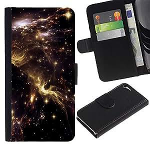 "Apple iPhone 5 / iPhone 5S , la tarjeta de Crédito Slots PU Funda de cuero Monedero caso cubierta de piel ("" Universe Sky Nebulae Stars Lights Cosmos"")"