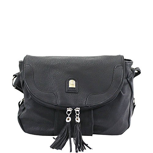 Two Crossbody Tassel Haute Women Diva Navy for Bag Toned Black twOTvqPxY