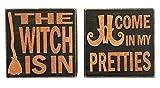 Nikki's Knick Knacks Set of 2 Wood Box Halloween Signs