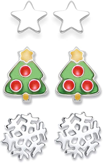 Lex /& Lu Sterling Silver Merry Christmas Disc Charm