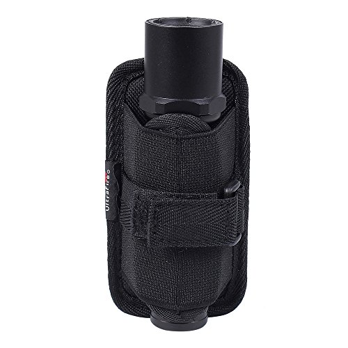 UltraFire Tactical Stretchy Flashlight Holster Pouch Holder with Rotatable Belt Clip for UltraFire WF-502B/T6/L2/C8 SureFire 6P/6PX/G2/G2X Flashlight Black