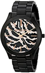 Michael Kors Watches Slim Runway Zebra Dial Watch (Black Zebra)