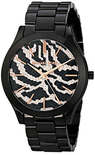 Michael Kors Watches Slim Runway Zebra Dial Watch (Black Zebra)