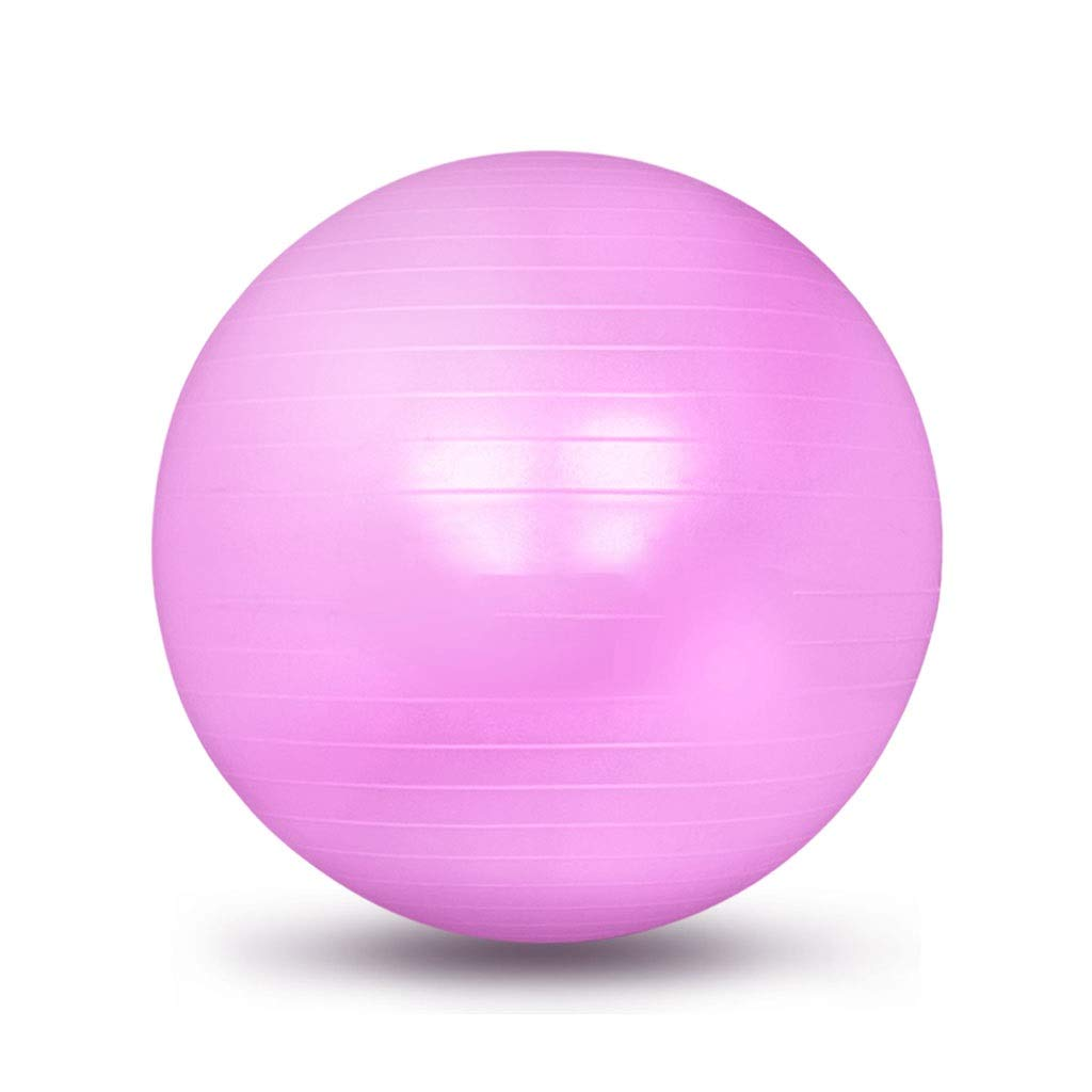 Exercise Yoga Ball, Gym Ball with Quick Pump Anti-Slip Exercise Ball Heavy Duty Gym Ball for Physical Therapy Gym and Home Exercise (Color : Purple, Size : 55cm)