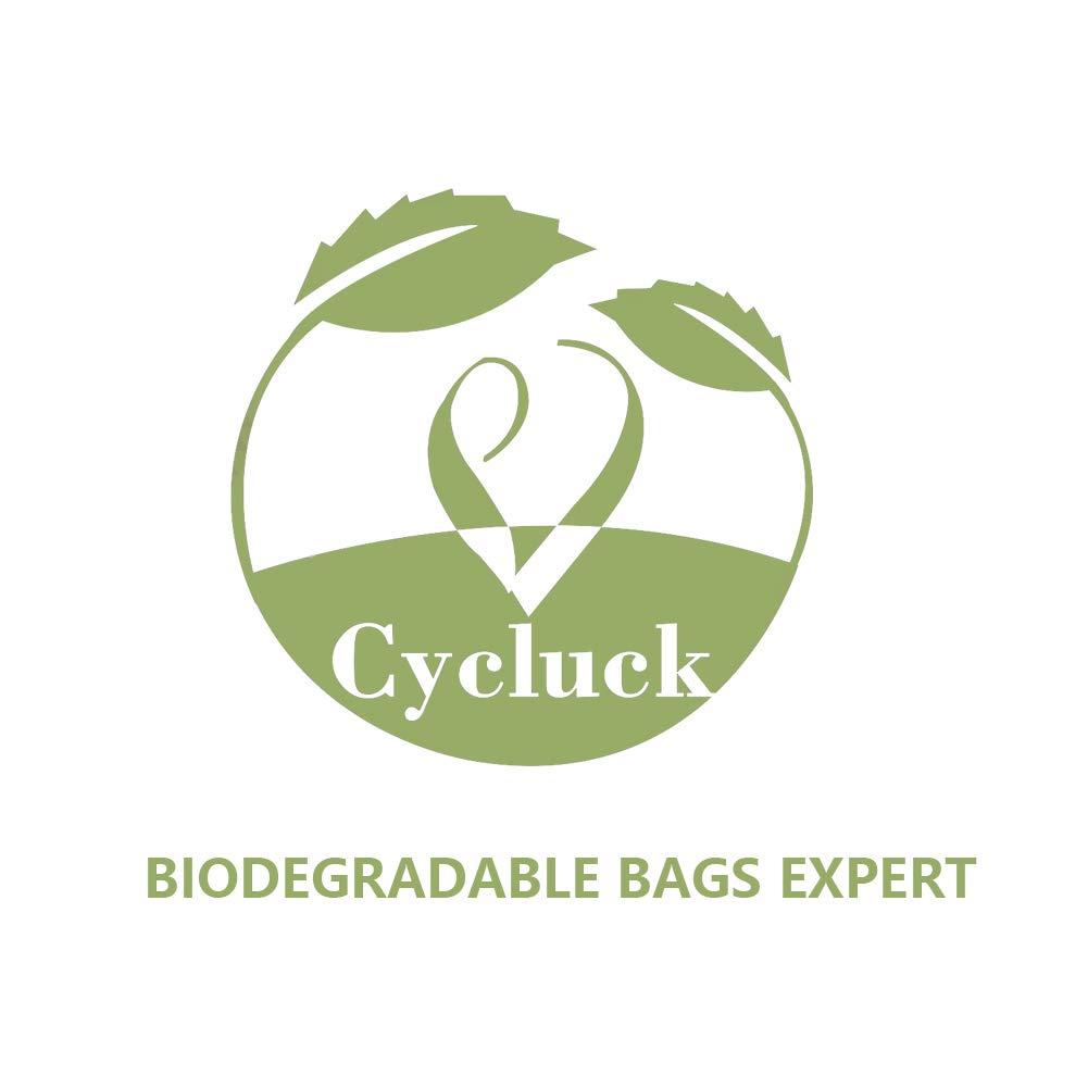 CYCLUCK 450 Sacchetti per Escrementi del Cane ecologici e biodegradabili Fatto da amido di Mais Profumati Prova di perdite Extra Large Spessi e Forti Verde