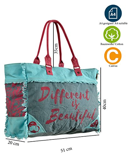 3a383ae3dd325 Sunsa Damen Tasche Badetasche Schultertasche Handtasche Shopper aus Canvas    Segeltuch und Leder ...