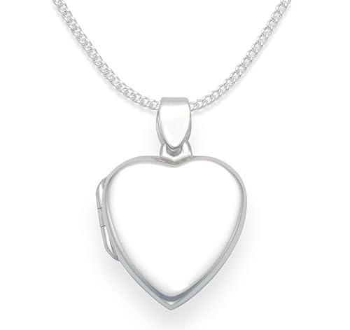 08ced9fc30 Collana con ciondolo portafoto a forma di cuore, in argento sterling, su  catenina lunga