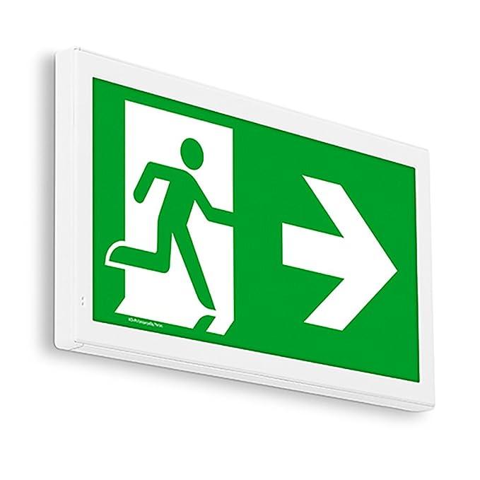 EXIT Pfeil nach rechts oben Notleuchte LED IP44 Decke Wand Notbeleuchtung Rettungszeichenleuchte Fluchtwegleuchte Notlicht Brandschutzzeichen Rettungszeichen
