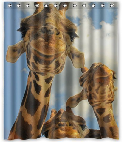 Cute and Lovely Giraffe Waterproof Shower Curtain