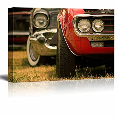 Retro Muscle Car Shot - Canvas Art