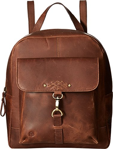 Born Womens Springfield Distressed Backpack w/ Dog's Leash on Front Pocket Chocolate One Size (Convert Leather Backpack)
