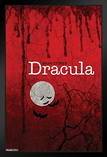Dracula Bram Stoker Moon Art Print Framed Poster