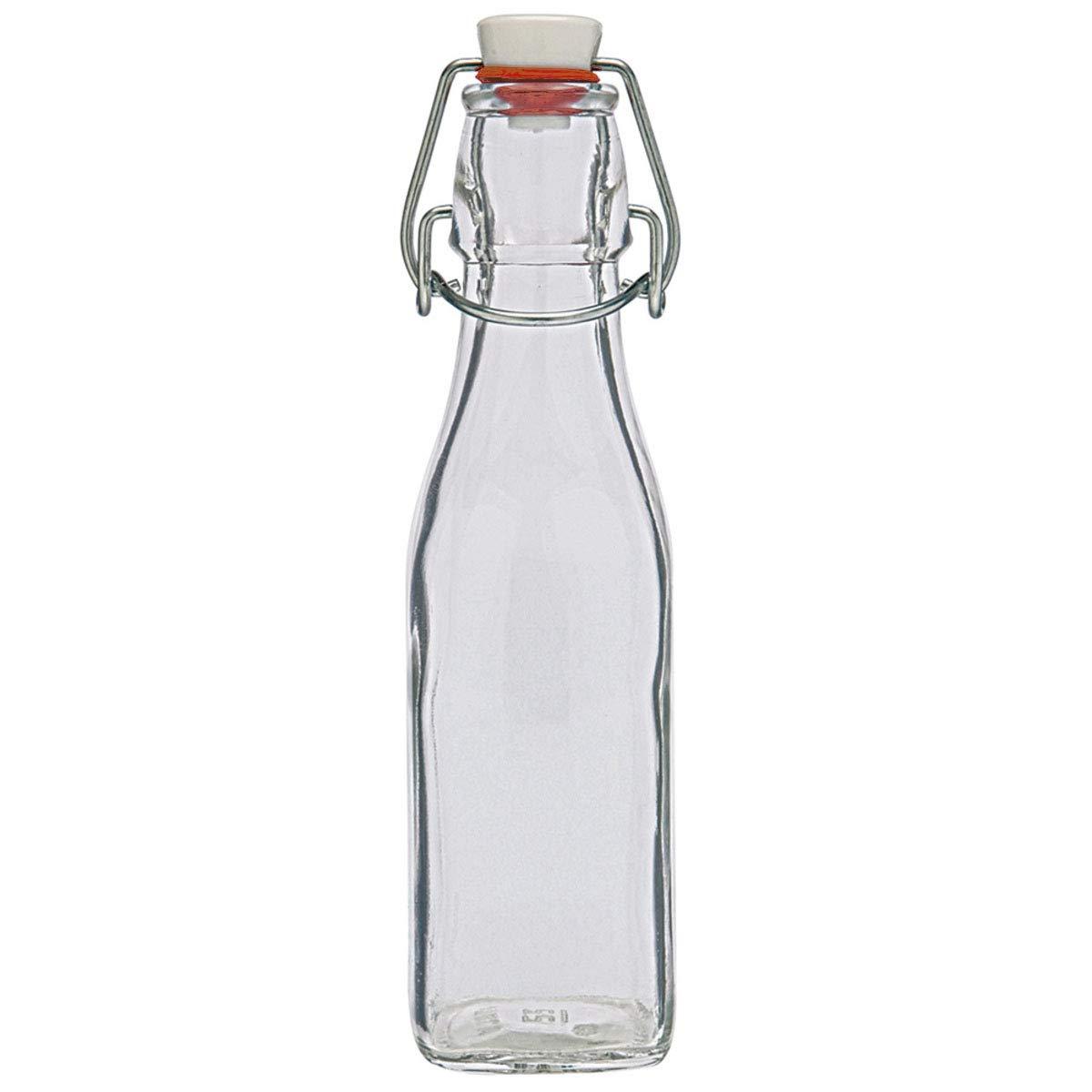 con Anillo de Goma 500 ml Lauf des Lebens Botella de Cristal con Cierre de Clip herm/ética