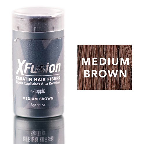 XFusion Keratin Hair Fibers, Medium Brown, Travel Size, 3g (0.11 OZ) by XFusion