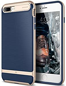 iPhone 7 Plus Case, Caseology [Wavelength Series] Modern Slim Fit Flexible Drop Protection [Navy Blue] [Tactile Grip] for Apple iPhone 7 Plus (2016)