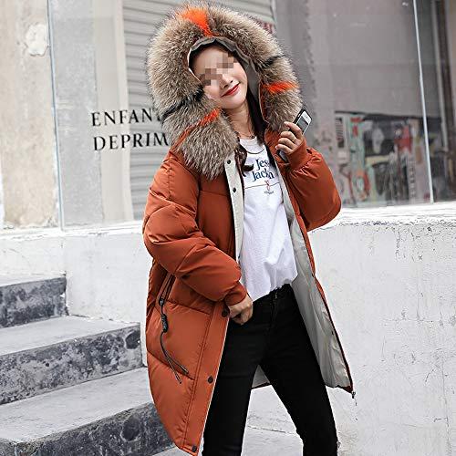 Media Inverno Cotone Collo Moda Dotoo Pelliccia Signore E Sciolto Caramel Vestito Lunghezza Autunno Di qAwCEA0
