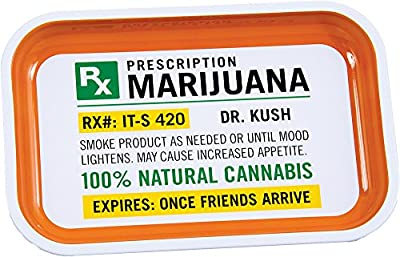 """Prescription Metal Rolling Tray - 7.5"""" x 11.25"""" by East West Trading Co."""