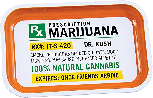 - Prescription Metal Rolling Tray - 7.5