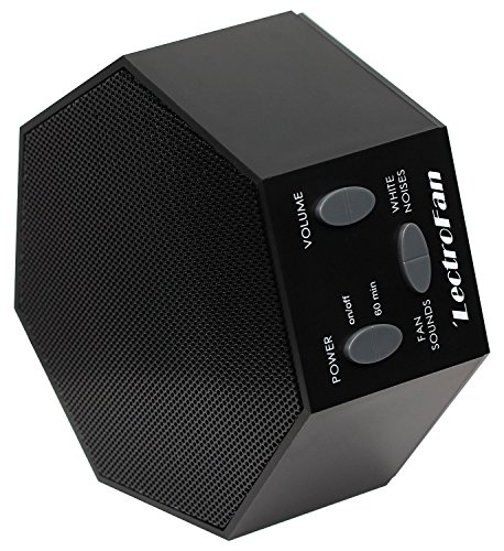 LectroFan - White Noise Machine, 20 Sleep Therapy Sound Options with Travel Case, Black