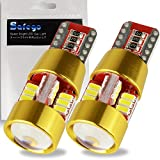 T10 168 Led bulb - Safego 501 2825 194 LED Wedge Bulb Canbus Error Free 27SMD 3014Chips With Len For Car Interior Turn Signal Parking Replacement Lamp Bright White Wild Light Angle 6000K 12V Pack Of 2