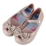 iFANS Girls Princess Smell Sweet Bow Jelly Shoes Toddler Kids Mary Jane Flats,Pink,9 M US Toddler