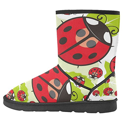 InterestPrint Womens Snow Boots Unique Designed Comfort Winter Boots Multi 9