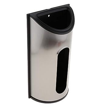 Kesoto Dispensador para Guardar Bolsa de Plástico Organizador Hecho de Acero Inoxidable