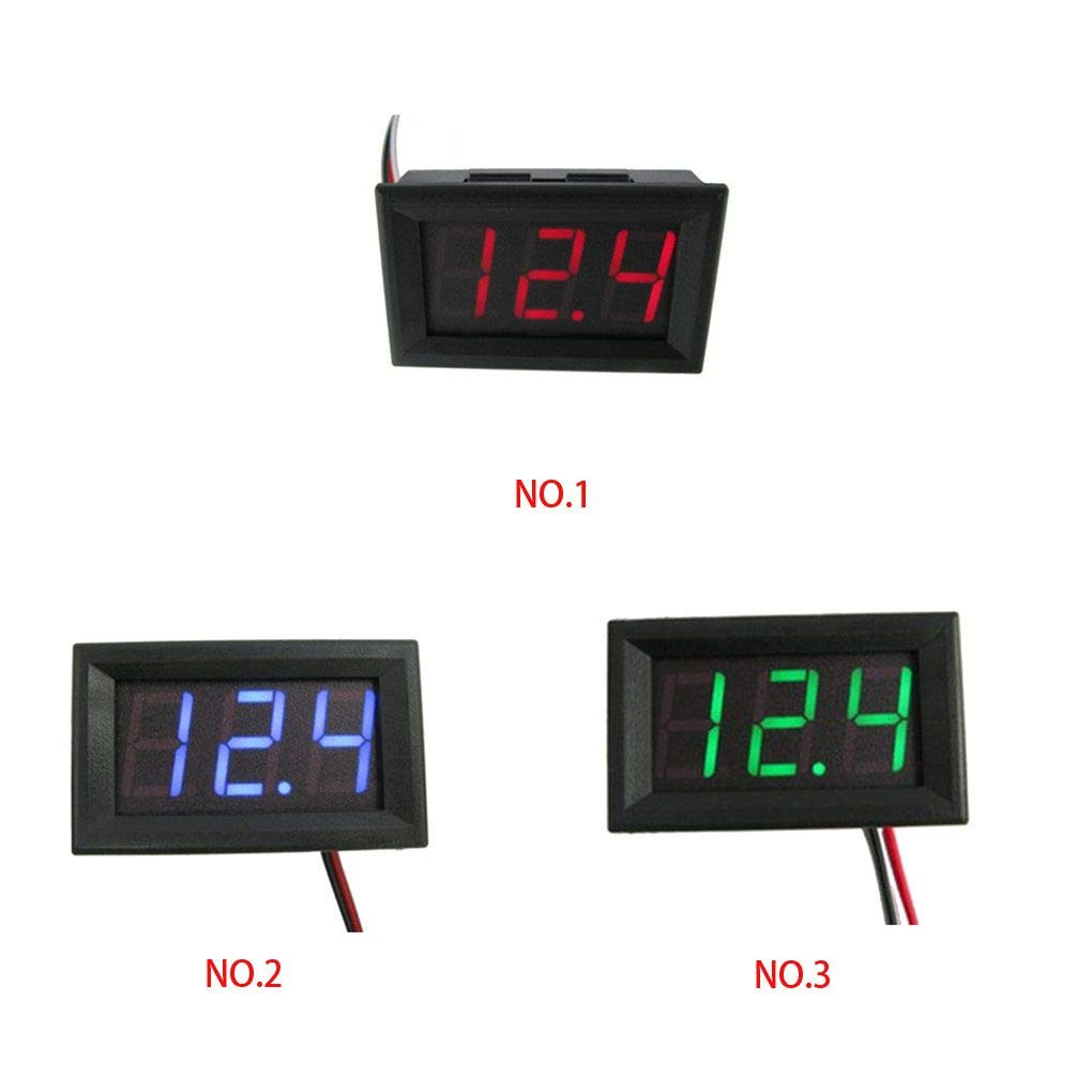Kakiyi 5PCS DC 0V-30.0V DC 3.2-30V LED 0,56 Pollici Panel Meter Tensione Tre Fili Lettore Digitale voltmetro