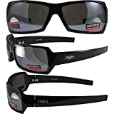 Global Vision Cosmo Sunglasses TR-90 Gloss Black Frames with Flash Mirror Lenses