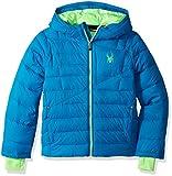 Spyder Big Boys' Upside Down Jacket, Concept Blue, L