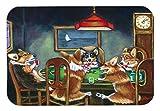 Caroline's Treasures 7416JCMT''Corgi Playing Poker'' Kitchen or Bath Mat, 24'' H x 36'' W, Multicolor