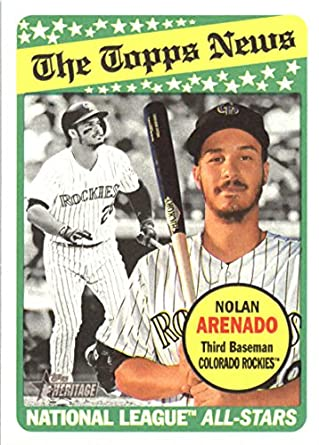 86c9093f6 Amazon.com  2018 Topps Heritage Baseball  112 Nolan Arenado Rockies ...