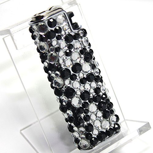 Elegant Bling Simulated Rhinestones Lighter Holder - 3 Inch