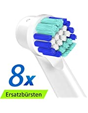 ITECHNIK Precision Clean Aufsteckbürsten Ersatz für Oral B Elektrische Zahnbürsten GENIUS, Oral B SMART, Oral B PRO, Oral B Vitality, Borsten 8 Stück
